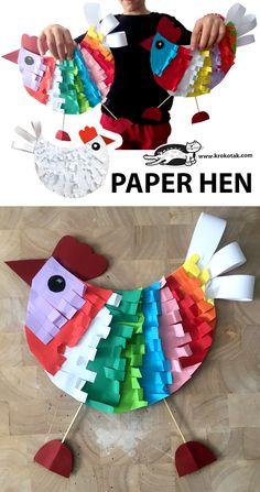 children activities, more than 2000 coloring pages Spring Crafts For Kids, Paper Crafts For Kids, Diy For Kids, Fun Crafts, Arts And Crafts, Kindergarten Art, Preschool Crafts, Preschool Printables, Easter Art