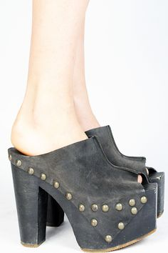 Laced With Romance - 1970's STUDDED PLATFORMS