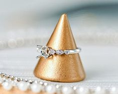 HANDMADE RINGS & BRIDAL SETS by MoissaniteRings on Etsy Diamond Ring Settings, Engagement Ring Settings, Solitaire Engagement, Time Shop, Bridal Ring Sets, Handmade Rings, Natural Diamonds, Beautiful Rings, White Gold