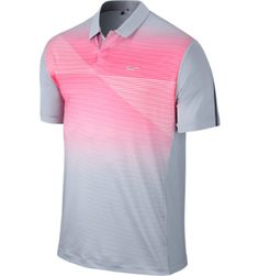 ca7c896aabb Tiger Woods Collection Men s TW Seasonal Bold Stripe Short Sleeve Polo  Tiger Woods