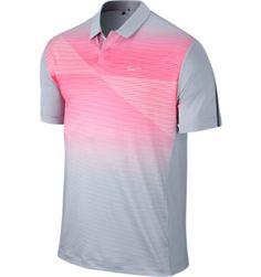 Tiger Woods Collection Men's TW Seasonal Bold Stripe Short Sleeve Polo