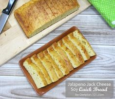A low carb quick bread made with soy protein powder and flavored with spicy Jack cheese. High Protein Snacks, Protein Diets, Soy Protein, Quick Bread, How To Make Bread, Atkins Recipes, Diet Recipes, Fast Weight Loss Plan, Diet Inspiration