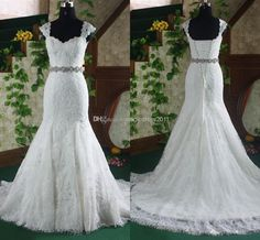 Cheap Wedding Gowns - Discount Bare Back Ivory Lace Wedding Dress Beach Bridal Online with $144.19/Piece | DHgate