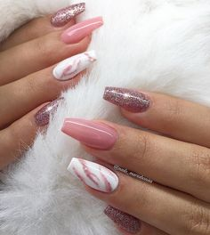 Attractive nails reference number 7268726678 - check out these stunning, superb design planning right here. Acrylic Nails Coffin Short, Simple Acrylic Nails, Pink Acrylic Nails, Pink Nails, Gel Nails, Nagellack Design, Nagellack Trends, Stylish Nails, Trendy Nails