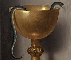 "signorformica: "" Chalice of Saint John the Evangelist. Hans Memling ~ ca.1470/1475 National Gallery of Art, Washington D.C. Bibliothèque Infernale """