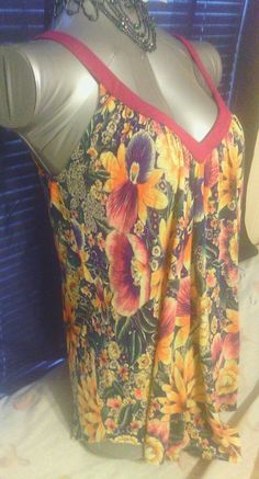 Free people top Size S floral tank purple yellow daisies  Anthropologie boho EUC #FreePeople #TankCami #Casual