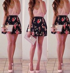 In love with skirts this summer! Cute outfit for some summer fun.