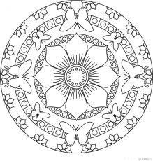 Free mandalas coloring > Animal Mandalas > Animal Mandala Design 4 - Butterfly