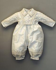 Lauren Madison Baby-Girls Newborn Satin Criss Cross Design Dress Gown 1358