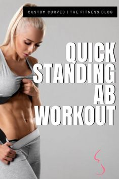 Ditch the mat and work those abs standing up. Make sure you subscribe and follow up! Fitness Exercises, Fitness Tips, Tiny Waist, Flat Belly, Weight Training, Strength Training, Workout Videos, Stand Up, At Home Workouts