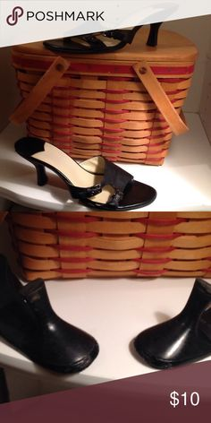 """Nine West Kitten Heels Black 2"""" heels with side buckles. The backs of the heels do have some scuffs Nine West Shoes Heels"""