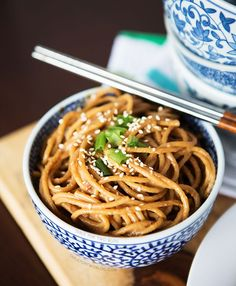 Cold Spicy Peanut Sesame Noodles - Table for Two