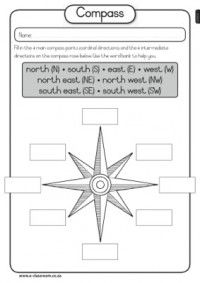 Worksheet Compass Rose Worksheets the compass and geography on pinterest map skills compass