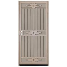 Cabo bella 32 in x 80 in copper security screen door for Home depot double security doors