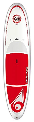 BIC Sport ACE-TEC Original Stand up Paddleboard, White/Red, 11-Feet 6-Inch x 32.5-Inch x 30