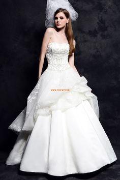 Prinsess Chapel Släp Glamorös & Dramatisk Billiga Bröllopsklänningar
