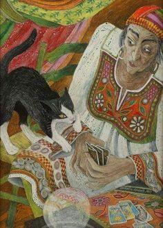 Fortune Teller, Palmistry, Crystal Ball, Mystic, Tarot, Painting, Wisdom, Painting Art, Paintings