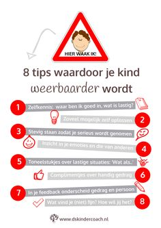 Infographic 8 Tips meer voor weerbaarheid Coaching, Social Work, Social Skills, Kids And Parenting, Parenting Hacks, Special Kids, Yoga For Kids, Kids Corner, School Hacks
