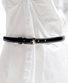 It may be a women's belt, but skinny belts look good, there's no need for an overly wide belt, just watch out for the buckle shape as it may look odd