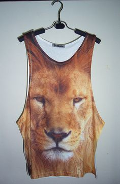 Carnivore Fox Mens Tank Top Racerback Vest Sleeveless T Shirts Athletic Singlet
