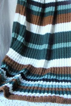 Felted Treasures: Knit Afghan ~ For the Manly Man