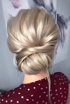 Bridal Hairstyles For Perfect Big Day Party ★ romantic bridal updos wedding hairstyles swept low blonde bun hair_vera