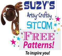 Free-patterns/Suzys Artsy Craftsy Sitcom #patterns #diy #crafts