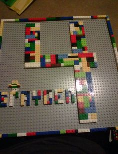 #Lego #birthday party sign made out of Legos! Genius idea! This article has everything you need to throw the ultimate Lego party!