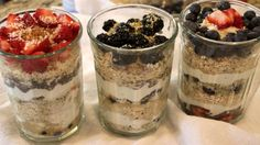 Raw Breakfast Parfaits #nutrishnonamission