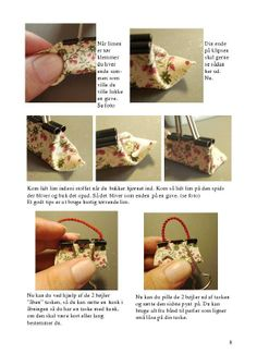 Doll purses made from binder clips! Miniature Crafts, Miniature Houses, Miniature Dolls, Barbie Patterns, Doll Clothes Patterns, Diy Dollhouse, Dollhouse Miniatures, Diy Barbie Clothes, Binder Clips