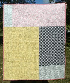 Cartwheels quilt - the back by freshlypieced, via Flickr