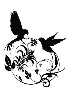 the 21 best removable wall art images on pinterest wise words 3  removable surface art 2 swirly birds black 312150 silhouette s surface art children s book illustration