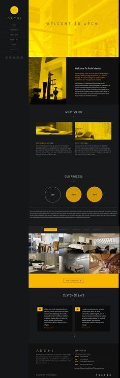 Archi is modern design premium #Drupal #template for #InteriorDesign services…