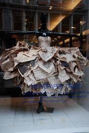 Paper dress, I can't find the original source.