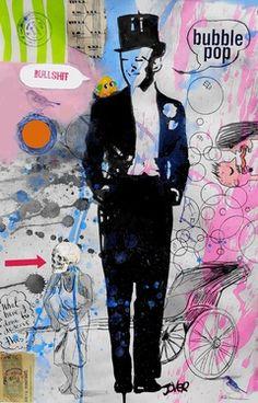 "Saatchi Online Artist Loui Jover; Drawing, ""putting on the ritz"" #art"
