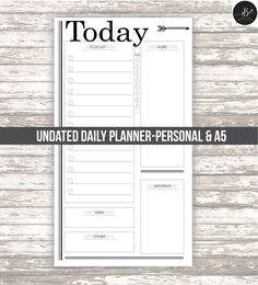 Daily planner •undated • professional look • Filofax personal size • A5 • DIGITAL printable by AlaBelleEtoileDesign on Etsy
