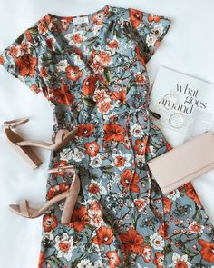 The Sage the Label Hazel Light Blue Floral Print Satin High-Low Wrap Dress is the height of romance and elegance! Floral print wrap dress with high-low hem. Cute Dresses, Casual Dresses, Casual Outfits, Cute Outfits, Wrap Dresses, Skirt Outfits, Teen Fashion, Fashion Outfits, Womens Fashion