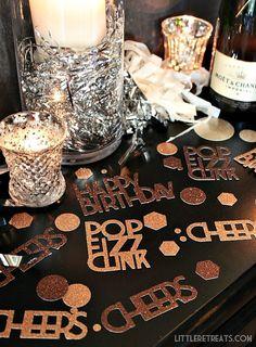 DIY Custom Party Confetti made with Cricut Explore -- Little Retreats. #DesignSpaceStar Round 3