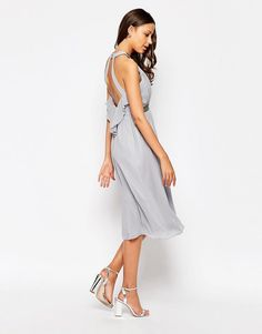 Image 2 of Little Mistress Tall Embellished Halter Skater Dress