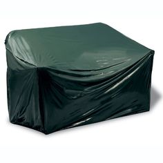 The Reversible Vinyl Patio Bench Cover protects your patio furniture from the elements during off season keeping it in good condition for its next use. #outdoor #storage #patio #furniture #fall #deck