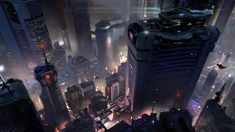 Halo 5 Concept Art by Sparth : Cyberpunk Halo 5, Cyberpunk City, Futuristic City, Futuristic Armour, Cyberpunk 2077, Environment Concept Art, Environment Design, Science Fiction, Sci Fi City