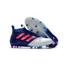 Adidas ACE - Chuteira Adidas ACE 17 PureControl FG Azul Branco Rosa 769d3972facb2