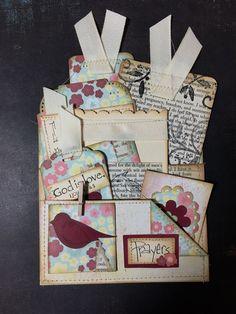 Prayer pocket by jeannie thompson phillips journal cards, junk journal, journal ideas Journal Cards, Junk Journal, Bullet Journal, Journal Ideas, Journal Inspiration, Handmade Journals, Handmade Books, Scrapbook Paper Crafts, Scrapbooking