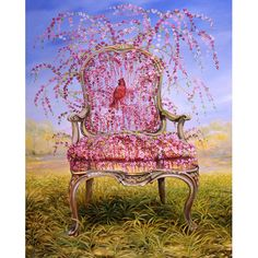 Flowering Weeping Cherry Chair by Timothy Martin