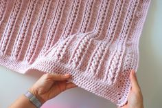 Crochet Easy Beginner Cable Blanket Tutorial With Written Pattern - My CMS Crochet Cable, Manta Crochet, Easy Crochet, Free Crochet, Beginner Crochet, Double Crochet, Crochet Baby Blanket Free Pattern, Afghan Crochet Patterns, Crochet Patterns For Beginners