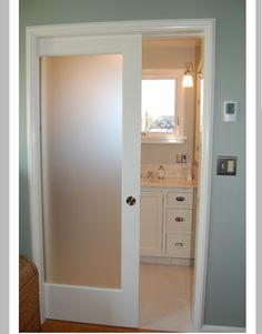 Pocket door to bathroom/closet