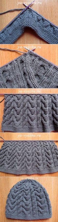 Как связать шапку и шарф спицами (мастер-класс)   Вязальное настроение...