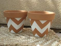chevron planting pot - would be so easy to recreate!