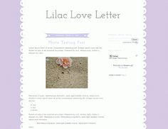 Blogger Candy - Free Blogger + Blogspot templates: Pink & Lilac Love Letter Templates!