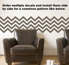 "Amazon.com: Chevron Stripes Style 2 Wall Art Decal Grey 36"" x 26"": Home & Kitchen Chevron Kitchen, Wall Stickers Murals, Stripes Fashion, Home Kitchens, Wall Art, Decal, Grey, Pattern, Emerson"